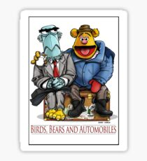 Birds, Bears and Automobiles Sticker