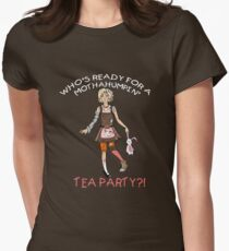Mothahumpin' TEA PARTY! Women's Fitted T-Shirt