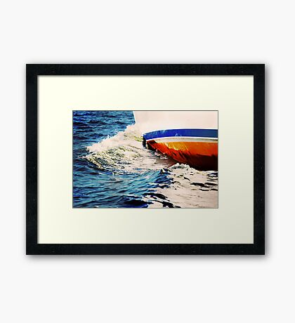 Abstraction in wave Framed Print