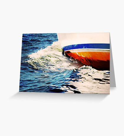 Abstraction in wave Greeting Card