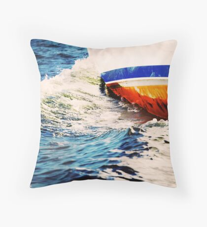 Abstraction in wave Throw Pillow