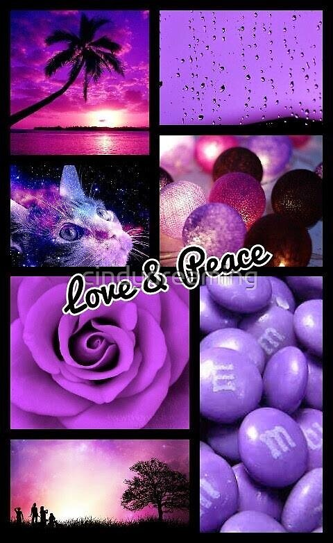 Peace and love , loves purple. by cindydreaming
