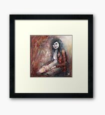 Reach my heart with tenderness... Framed Print