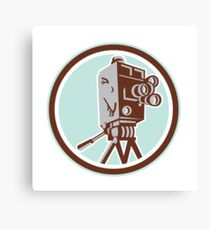 Vintage Movie Film Camera Retro Canvas Print