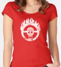 Mad Max Skull Women's Fitted Scoop T-Shirt