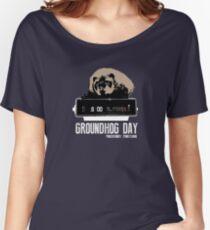 Groundhog Day  Alarm Clock  Punxsutawney Color T-shirt Women's Relaxed Fit T-Shirt