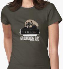 Groundhog Day  Alarm Clock  Punxsutawney Color T-shirt Womens Fitted T-Shirt