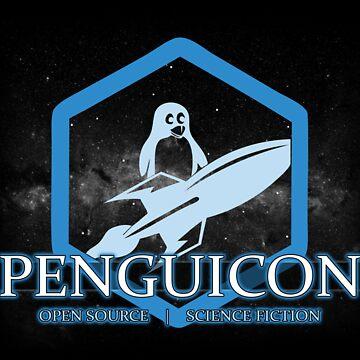 Ltd Edition Blue Penguicon Galaxy by Penguicon