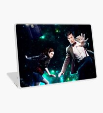 Amy and The Doctor in Space Laptop Skin