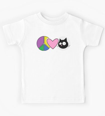 Peace Love Cats Kids Clothes