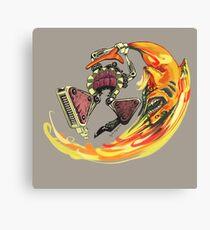 Insane Warriors - Shark Vielding Robot Canvas Print