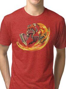 Insane Warriors - Shark Vielding Robot Tri-blend T-Shirt