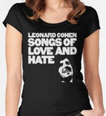 Leonard Cohen - Songs of Love and Hate Shirt Women's Fitted Scoop T-Shirt