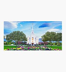 Brigham City Temple - Tabernacle Flowers 32x16 Photographic Print