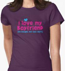 I love my Boyfriend (he bought me this shirt) T-Shirt