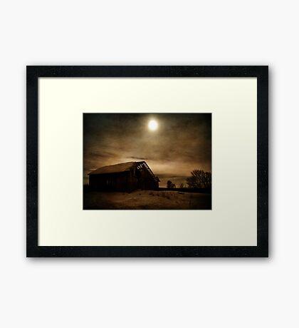 A Barn's Ending Framed Print