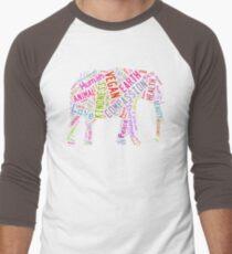 Vegan Elephant Men's Baseball ¾ T-Shirt