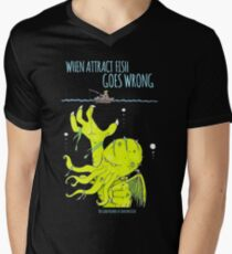 When Attract Fish Goes Wrong (2) Men's V-Neck T-Shirt