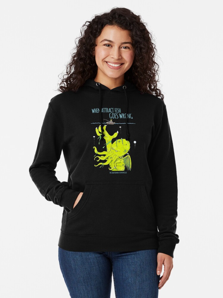Alternate view of When Attract Fish Goes Wrong (2) Lightweight Hoodie