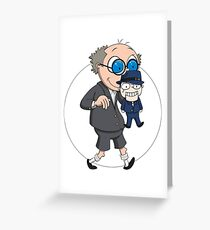 The Ventriloquist makes Scarface dance Greeting Card