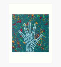 Paint My Hand 6 Art Print