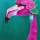 Frida Flamingo by cassiaramone