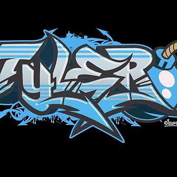 Tyler Streetwear Graffiti Burner by Jawnism