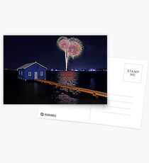Crawley Edge Boatshed Fireworks Postcards