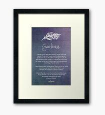 Affirmation - Gentleness Framed Print