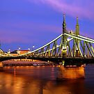 Freedom Bridge at dusk by mikeosbornphoto