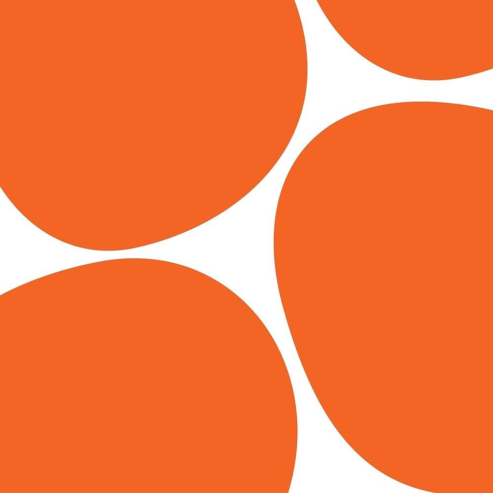 Big Dots in Orange by LauraMalkasian
