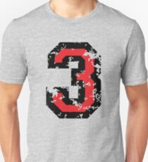The Number Three - No. 3 (two-color) red Unisex T-Shirt