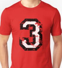 The Number Three - No. 3 (two-color) white Unisex T-Shirt