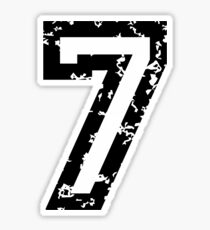 Number Seven - No. 7 (two-color) white Sticker