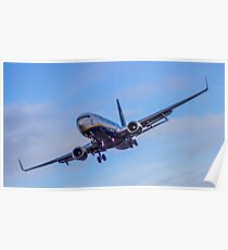Ryanair coming in to land Poster