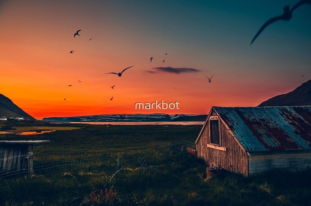 Súðavík sunset by markbot