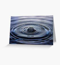 Water Splash Greeting Card