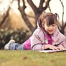 Reading in the Winter Sun by Tracy Friesen