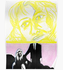 Laura Palmer feat. Dale Cooper in pastel- Twin Peaks Poster