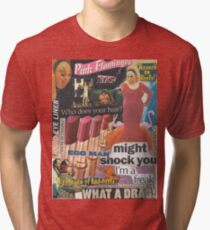 Camiseta de tejido mixto ¡La inmundicia es mi política, la inmundicia es mi vida!