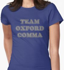 Team Oxford Comma Womens Fitted T-Shirt