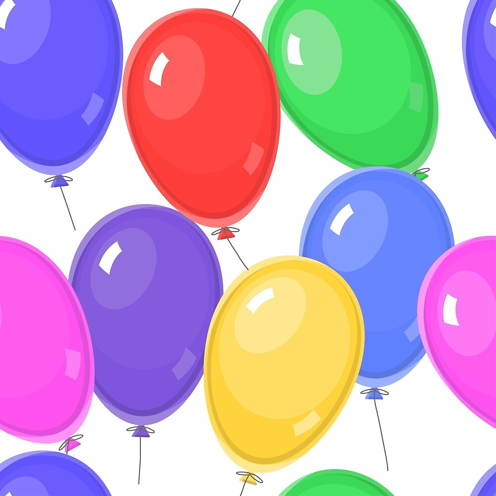 balloon seamless pattern, bright and colorful background by vkulieva