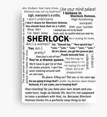 Sherlock Season 3 Quotes Canvas Print