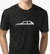 Silhouette Volkswagen VW Golf Mk1 White Tri-blend T-Shirt