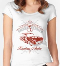 Smoke and Flames Kustom Auto Women's Fitted Scoop T-Shirt