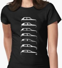 Silhouette Volkswagen VW Golf Mk1-Mk7 Right White T-Shirt