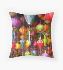Lanterns On Display at Hoi An Markets Throw Pillow