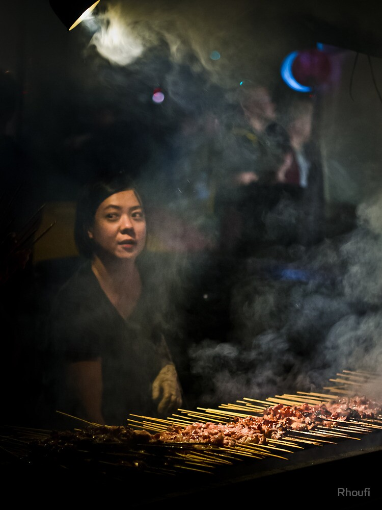 Satay Vendor - White Night by Rhoufi
