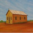 Old Church at Silverton NSW Australia - PAINTING by Sandy1949