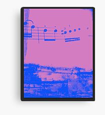 Notes Canvas Print